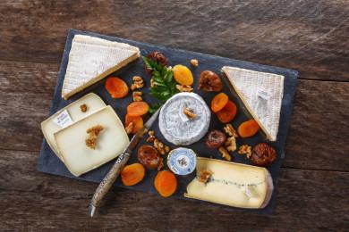 Planche de fromages affinés